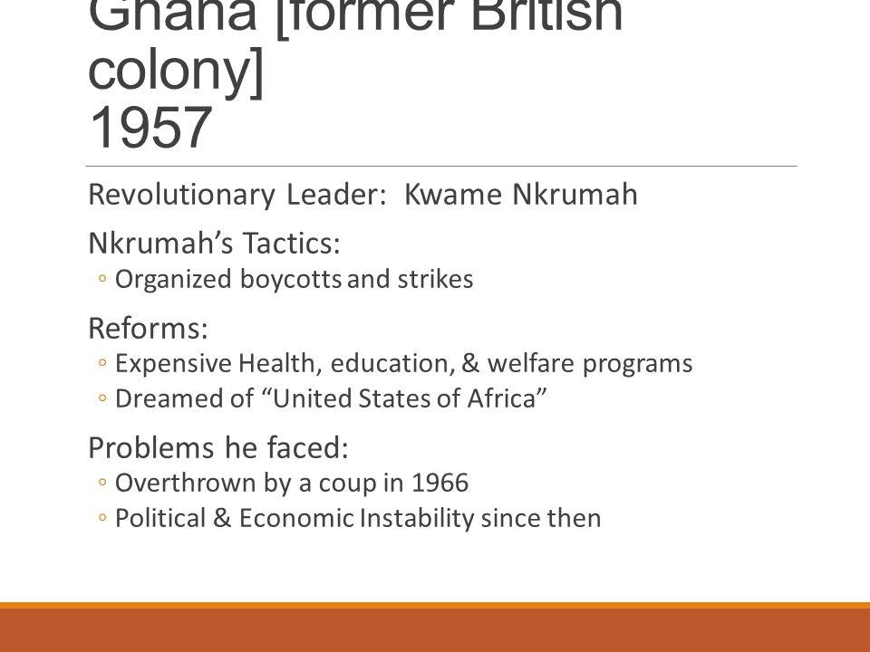 Ghana [former British colony] 1957